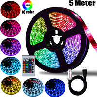 5m LED Strip Lights 5050 RGB Colour Changing Tape Under Cabinet Kitchen Lighting