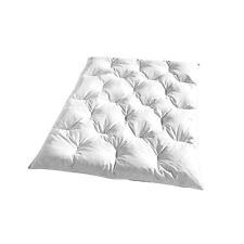 KBT Bettwaren Bettdecke Kassettendecke Steppdecke Federmischung 135x200cm Wei aM