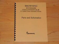 Browning Buckmark, Challenger II and III - Parts and Schematics - #B 7s