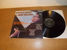 LP VINYL - HANK BALLARD - SPOTLIGHT ON   - KING 740 - BLACK LABEL USA
