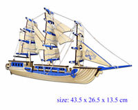 Sailing Ancient Boat Titanic Jigsaw 3D Wooden Model Construction Kit Puzzle Gift