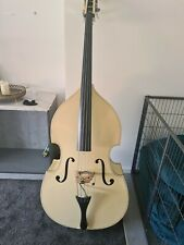 More details for white carlo giordano 3/4 double bass instrument, bow, case