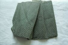 Vtg Antique 1800's cotton Fabric Quilt Dress - Overdyed Green
