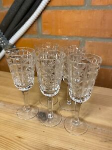 Vintage Soviet Crystal Glass Five One Shot Glasses USSR