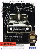 PUBLICITE ADVERTISING 074  1992  CASIO   montre PB 100