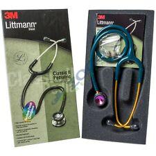 "Littmann Classic II Pediatric Stethoscope 28"" Rainbow Chestpiece Caribean Blue"