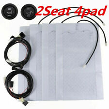 12V Universal Car 2 Seats Carbon Fiber Heated Seat Heater Kit High-Low Switch