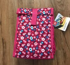 Igloo Insulated Fold Over Top Lunch Box Pink Floral Theme NEW