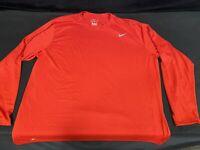 Nike Long Sleeve T-Shirt Crewneck Athletic Cut Tee Red Men's Size 3XL