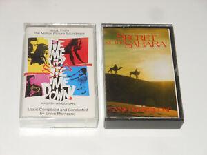 Ennio Morricone - 2 MCs - Cassettes - Tie Me Up! Tie Me Down! + Secret Of Sahara