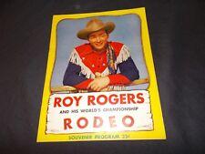 Vintage ROY ROGERS World Championship Rodeo Program 1948