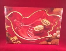 Mikasa Crystal Christmas Sweet Dish Golden Dove Gold Candy Treat Soap Wings Bird
