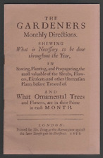 The Gardeners Monthly Directions Shewing 1980 facsimilie of 1688 pub (Paperback)