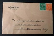 Precancel cover - From Safeguard, Inc, Lansdale, PA with pair of type 704