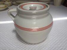 Vintage Hall Red Stripe Large Bean Pot Jug No damage