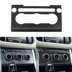 Carbon Fiber Center Volume Air Condition Button Cover Trim For Range Rover Sport