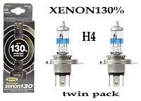 Ring 130% Super Bright White Xenon Upgrade H4 Bulb Twin Pack xenon130% RW3372