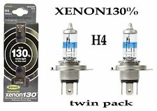 Anello 130% Super Luminosi Bianchi Xenon Upgrade H4 Lampadina Twin Pack xenon130% rw3372