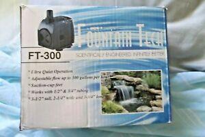 FOUNTAIN TECH WATER PUMP 300 GALLONS PER HOUR (B)