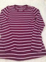 Old Navy Women's Purple White Striped Maternity Top Size Medium