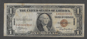 FR. 2300 S/C One Dollar $1 Series of 1935A Silver Certificate Hawaii Brown Seal