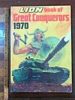 VINTAGE 1970 LION GREAT CONQUERORS COMIC STORY BOOK ANNUAL HB UK RARE EXC!!!