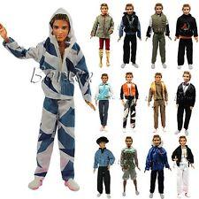 3 Ropa Casual Camisa y Pantalones Fashion para 12 Inch Doll Novio Ken Muñeco