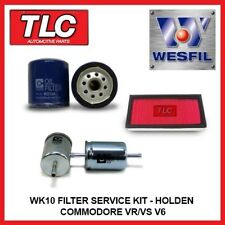 WK10 Air Oil Fuel Filter Kit - Holden Commodore VR VS V6 3.8L ecotec
