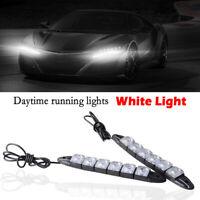 2x 6 LED Daytime Runing Lights Car Driving DRL Fog Lamp Light White Bright 12V
