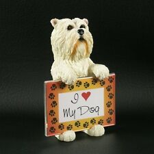 Westie HOLDING PICTURE FRAME West Highland White Terrier New