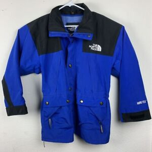 The North Face Mens 3-in-1 Jacket Blue Black Colorblock Zip Mesh Collared Snap S