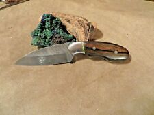 "7 "" DAMASCUS KNIFE WITH CUSTOM HANDLE OF MUN EBONY-BY LEE"