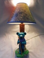 GRATEFUL DEAD Desk Table Lamp Light 2000 Vandor Dancing Bear with Tie Dye Shade