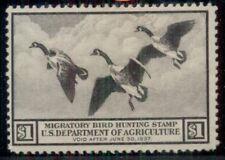 US #RW3 $1.00 Canada Geese, og, NH, VF, Scott $325.00