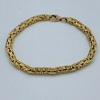 "Heavy Solid 9ct Yellow Gold Fancy Link Bracelet 81/2"" #786"