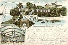 1042/ Litho AK, Berlin, Restaurant Schloß Schlachtensee, 1903