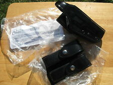 GOULD & GOODRICH POLICE BLACK SMITH & WESSON HOLSTER + DUAL MAG CASE NEW H-2
