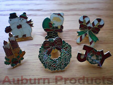 Christmas Lapel Pins 6 assorted as shown