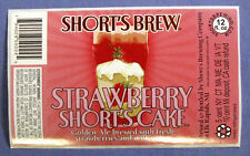 Short's Brewing STRAWBERRY SHORT'S CAKE label MI 12oz STICKER
