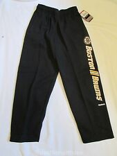 NWT Boys Reebok Large 14-16 Boston Bruins Sweat Pants Black Yellow NHL Face-Off