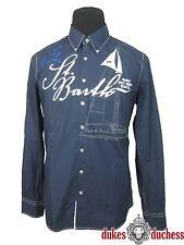 Gaastra pour Hommes Chemise St. Badin Button Down Bleu Foncé/Bleu Marine TAILLE