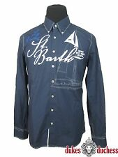 GAASTRA Herren Hemd St.Barth Button Down dunkel blau / marine Gr.:M/48 NEU !