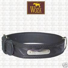 WOZA Premium Hundehalsband Handgraviert Volllleder handgenäht Rindnappa C21304