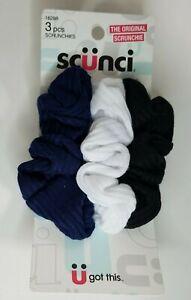 Scunci Ruffle Knit Hair Scrunchies #16298 3 Scrunchies Total