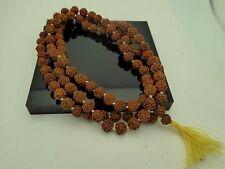 Rudraksha Japa Mala Rosary Yoga Hindu Meditation 8mm 108+1 Prayer bead Mala
