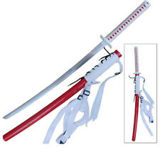 Naruto Anime Omoi Lightning Infused Katana Red Long Sword Steel Japanese Manga
