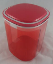 Tupperware A 35 Skyline 1,5 l Dose Behälter Box Hellrot Rot transparent Neu OVP