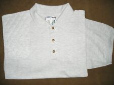 Large Rh Double Layer Trap/Skeet Pad Ash Cotton Pique Knit Polo Shooting Shirt