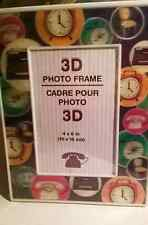 "Brand NWT 3D Photo Frame RETRO & VINTAGE Clocks, Bikes, Phones, Etc 4""X6"" Size"