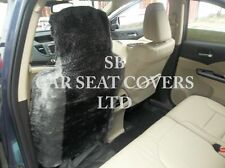 i - TO FIT A SAAB 9000 CAR, FRONT S/ COVERS, GREY DIAMOND FAUX FUR